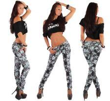 Niedrige Blumen Damen-Jeans