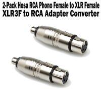 2-Pack Hosa RCA Phono Female to XLR Female XLR3F Adapter Converter Unbalanced