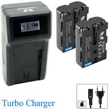 2x SK Akku für Sony NP-FM500H 2040mAh + Turbo Charger NP-FM500 |1060389-190112