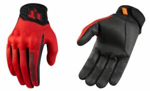 Icon Anthem 2 CE Red Mens Textile Motorcycle Riding Street Racing Gloves
