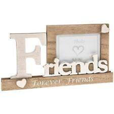 """Friends Wooden Vintage Style Mantel Photo Frame Gift 3.5"""" x 5"""" 61907"""