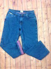 C.E. SCHMIDT Workwear Womens sz 14 29/30 Flannel Lined Jeans Denim Blue Cotton