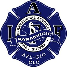 """4"""" IAFF Decal Paramedic Exterior Mount PLEASE READ AUCTION"""