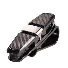 Portable Auto Car Sun Visor Sunglasses Ticket Card Storage Pen Holder Clip Black