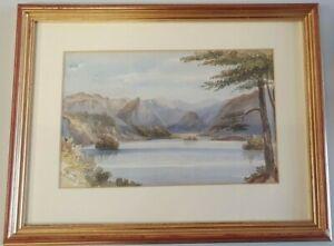 Derwents Water, Lake District original watercolour 37 x 28 cm frame I10P265