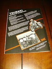 VANCE HINES SUZUKI  KAWASAKI EDDIE LAWSON 1000 SUPERBIKE TSUBAKI *ORIGINAL AD*