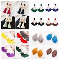 Statement Fashion Women Bohemian Tassel Earrings Boho Hook Drop Dangle Fringe