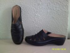 Comfort View - Black Leather Clog / Mule --  12 M