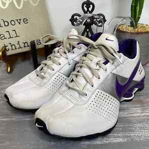 Nike Shox white & purple size 5.5 Youth 7 women's