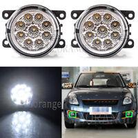 2X LED Front Bumper Fog Driving Light Lamp For SUZUKI Grand Vitara Jimny SX4 L+R