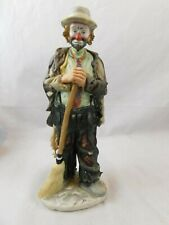 """Emmit Kelly Jr Limited edition porcelain Clown """"Sweeping up"""" Numbered 7532/12000"""