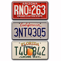 Fast and the Furious | Paul Walker | Metal Stamped Replica Prop License Plates