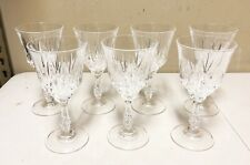 "Vintage JMP Marketing Capri Crystal 7"" Water Goblets Wine Glasses - Set of 7"