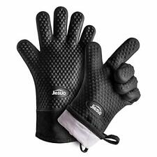 Silicone Oven Mitts Gloves Pot Holders Cooking Kitchen Bbq Grill Baking Barbecue