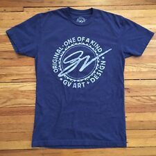 GV ART + DESIGN Logo Tee Shirt SIZE SM Purple Sparkly #40 on Back