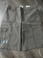 "St Johns Bay 11"" Bermuda Shorts Easy Fit Mid Rise Taupe Womens Size 10 NWT $32"