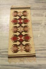 Afghan Traditional Flat Woven Kilim Runner Ikat Handmade 1'2''x3'2'' DN-2108