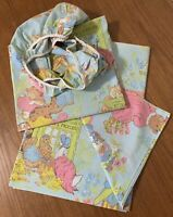 Vtg Peter Rabbit Beatrix Potter TWIN SHEET SET Flat & Fitted Wamsutta Ultracale