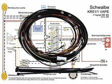 Simson Kabelbaumset Kabelbaumsatz Schwalbe KR51/1 12V-VAPE Schaltplan Kabelbaum