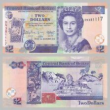 Belize 2 dollaro 2014 p66e unz.