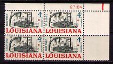 US USA Sc# 1197 MNH FVF PLATE # BLOCK  Louisiana 50th Riverboat Paddlewheeler