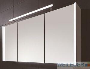 Puris Linea Bad Spiegelschrank 70/100/130 cm LED-Profile Aufsatzleuchte wählbar