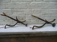 Antique Pair Georgian Gutter Brackets Hand Forged-Country House Manor Farmhouse