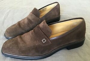 Bally Century Mens Sueded Leather Driver Loafer Nutmeg Size 8E