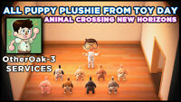 Puppy Plushie Collection (Toy Day Items) - Animal Crossing: New Horizons -