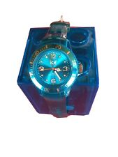 Ice Watch Montre Bleue Bracelet Transparent