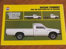 1980 Datsun 1 Tonners original Australian 4 page brochure