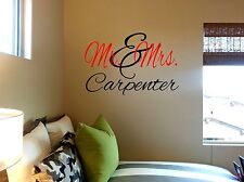 Vinyl Wall Sticker Personalized Mr. Mrs. with Name