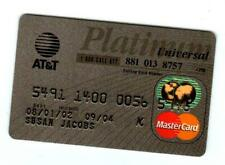 At&t Universal Master Card collectable expire 09-04