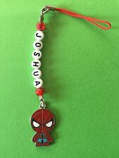 SPIDERMAN DS MOBILE PHONE CHARM PERSONALISED ANY NAME PARTY GIFT