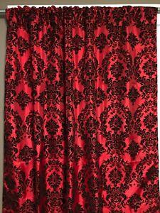 Taffeta Flocking Damask Curtain Panel Window Treatment/Photography Backdrop