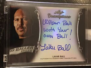 LAVAR BALL 2017-18 Leaf Inscriptions Autograph #3/5 Big Baller Brand #MI-LB2