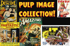 VINTAGE PULP Magazine Covers HORROR Sci FI Movie poster on DVD Over 4400 images