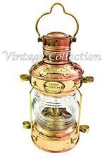Antique Brass Anchor Oil Lamp Nautical Vintage Copper Ship Lantern Boat Light
