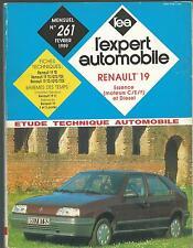 ETUDE TECHNIQUE AUTO. RENAULT 19 Essence ( moteurs C/E/F) & Diesel