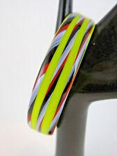 Vintage Retro Glass Murano Bangle C60'S/70'S Candy Stripe ~ (16598-4)