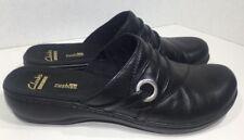 Clarks Women's Size 7.5 Leisa Bliss Black Slip On Clogs Shoes ZM-1883