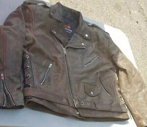 Leather motorbike jackets Bikers Gear (E227)
