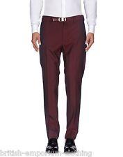 DOLCE & GABBANA Burgundy (Claret) Formal Wool Stretch Trousers BNWT IT44 UK30-32