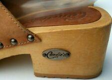 Vintage Original Candies Wood Slip On Sandals Boho Size 8