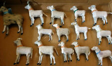 14 ANCIENS  MOUTONS  LAINEUX 14 WOOLY( 10 sheep*4rams)SHEEP STICK LEG c1880