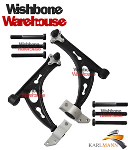 for VW GOLF MK5 JETTA 2005> GTD GTi FRONT LOWER  WISHBONE CONTROL ARMS & BOLTS