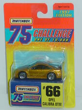 MATCHBOX GOLD 1997 75 CHALLENGE ONE 0F 10,000 #66 OPEL CALIBRA DTM
