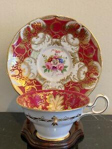 Vintage Grosvenor by Jackson & Gosling Bone China Artist Signed Cup & Saucer