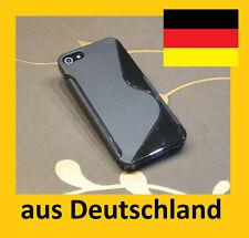 iPhone 5 , iPhone 5S * S-Line schwarz Schutzhülle silikon case     (A5B)