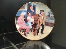 Limited Ed. NUMBERED Plate, Family Portrait by Hagel, 1985-- Gorham, NEW 24K!